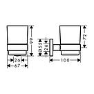 LOGIS набор аксессуаров: крючок, полотенцедержатель, держатель туалетной бумаги, стакан,туалетная щётка, фото 4