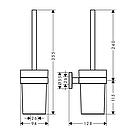 LOGIS набор аксессуаров: крючок, полотенцедержатель, держатель туалетной бумаги, стакан,туалетная щётка, фото 5