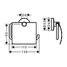 LOGIS набор аксессуаров: крючок, полотенцедержатель, держатель туалетной бумаги, стакан,туалетная щётка, фото 6