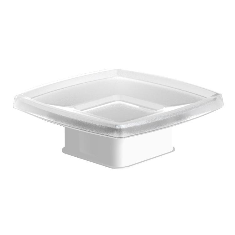 TEO мыльница матовое стекло с мягким кольцом