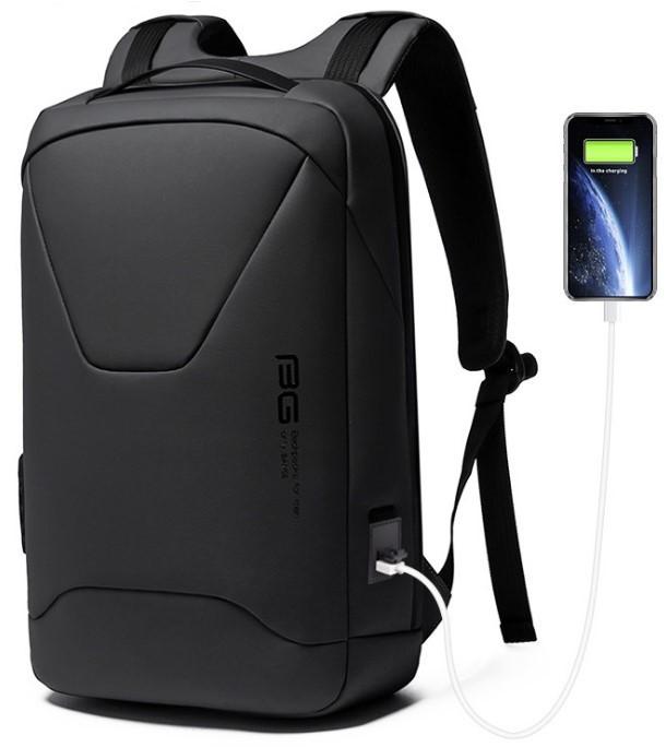 Рюкзак Bange BG-22188 міський дорожній вологозахищений USB чорний 27л