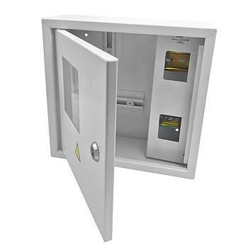 Щит под 1ф электрический счетчик на 4 автомата внутренний (ЛОЗА) размеры: 250х250х100