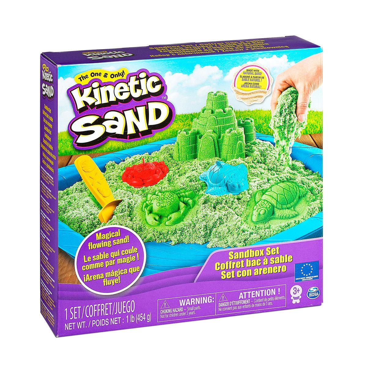 Набор Песка Для Творчества - Замок Из Песка (Зеленый) Kinetic Sand 71402G