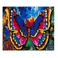 "Картина раскраска по номерам ""Яркая бабочка"", 40х50см. №30356"