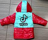 Демісезонна куртка дитяча з отстегными рукавами Tik Tok, фото 2