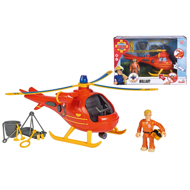 Вертолет спасательный Пожарный Сэм Wallaby Simba 9251087