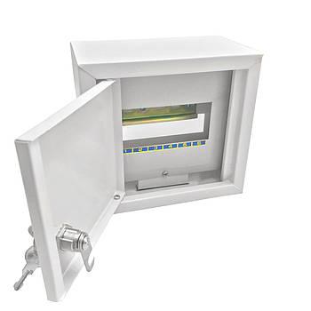 Щит осветительный (ЩО) на 6 автоматов наружный (ЛОЗА) размеры: 165х190х100