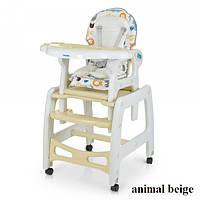 Стульчик для кормления Bambi M 1563 (animal beige), фото 1