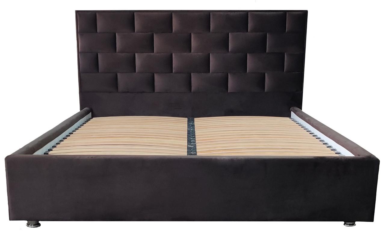 Кровать с мягким изголовьем Литторио