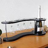 Набор для вина на 4 рюмки-Волна Гранд Презент SS07266, фото 4