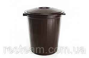"""Бак мусорный 45л """"Горизонт"""" коричневый"""