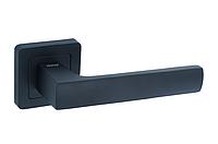 Ручка на квадратной розетке TRION LIBERA AL-AL MB (black)