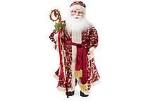 Новогодняя декоративная Санта 61см, цвет - красный