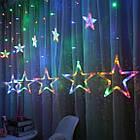 Светодиодная гирлянда занавес ЗВЕЗДОПАД 2.5м, новогодние LED гирлянды штора  12 цветных звезд, фото 7