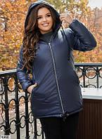 Женская теплая куртка на зиму синтепон 200 батальная 50 52 54 56 58