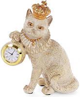 """Фігурка декоративна з годинником """"Королівський Кіт"""" 15х8х17.5см"""
