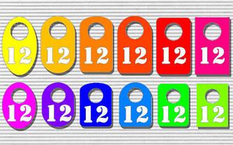 Номерки для гардероба цветные и ч\б