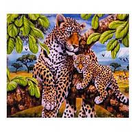 "Картина раскраска по номерам ""Леопарды"", 40х50см. №30370"