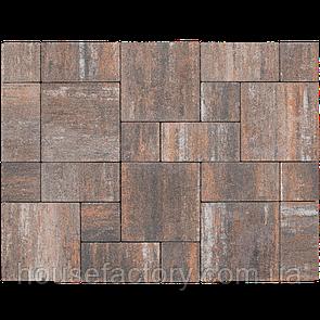 """Бетонна тротуарна плитка Авеню """"Стоун Лайт"""" Еспрессо (з 3-х форм (150 x 150; 300 x 150; 300 x 3)"""