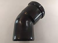 Колено угол 45 диаметр 80мм конденсационный дымоход черный
