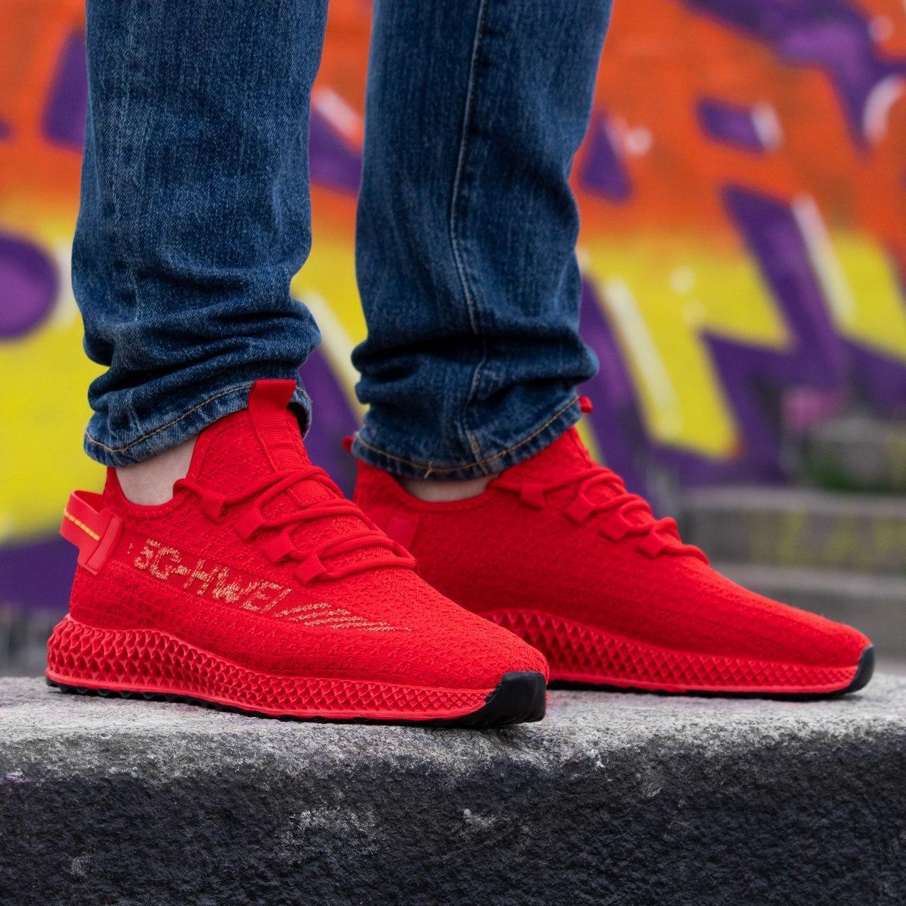 Мужские красные кроссовки Размеры 42,43,45,46