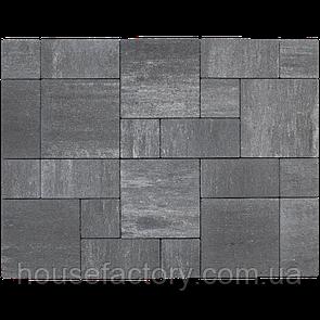 "Бетонна тротуарна плитка Авеню ""Стоун Лайт"" Нуар (з 3-х форм (150 x 150; 300 x 150; 300 x 3)"
