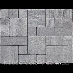 """Бетонна тротуарна плитка Авеню """"Стоун Лайт"""" Платина (з 3-х форм (150 x 150; 300 x 150; 300 x 3)"""