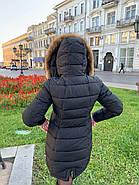 Пуховик женский с капюшоном FineBabyCat 553-black, фото 4