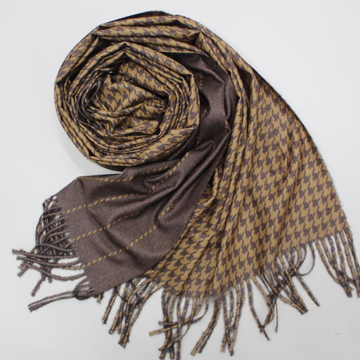 Теплый шарф двухсторонний кашемировый 133001