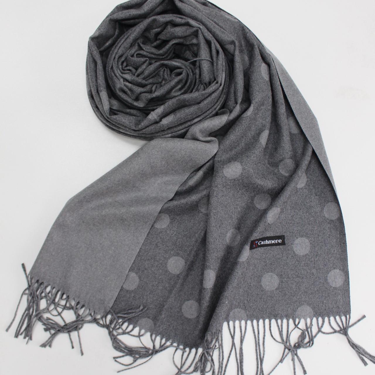 Кашемировый теплый шарф палантин в горошек Cashmere 137006