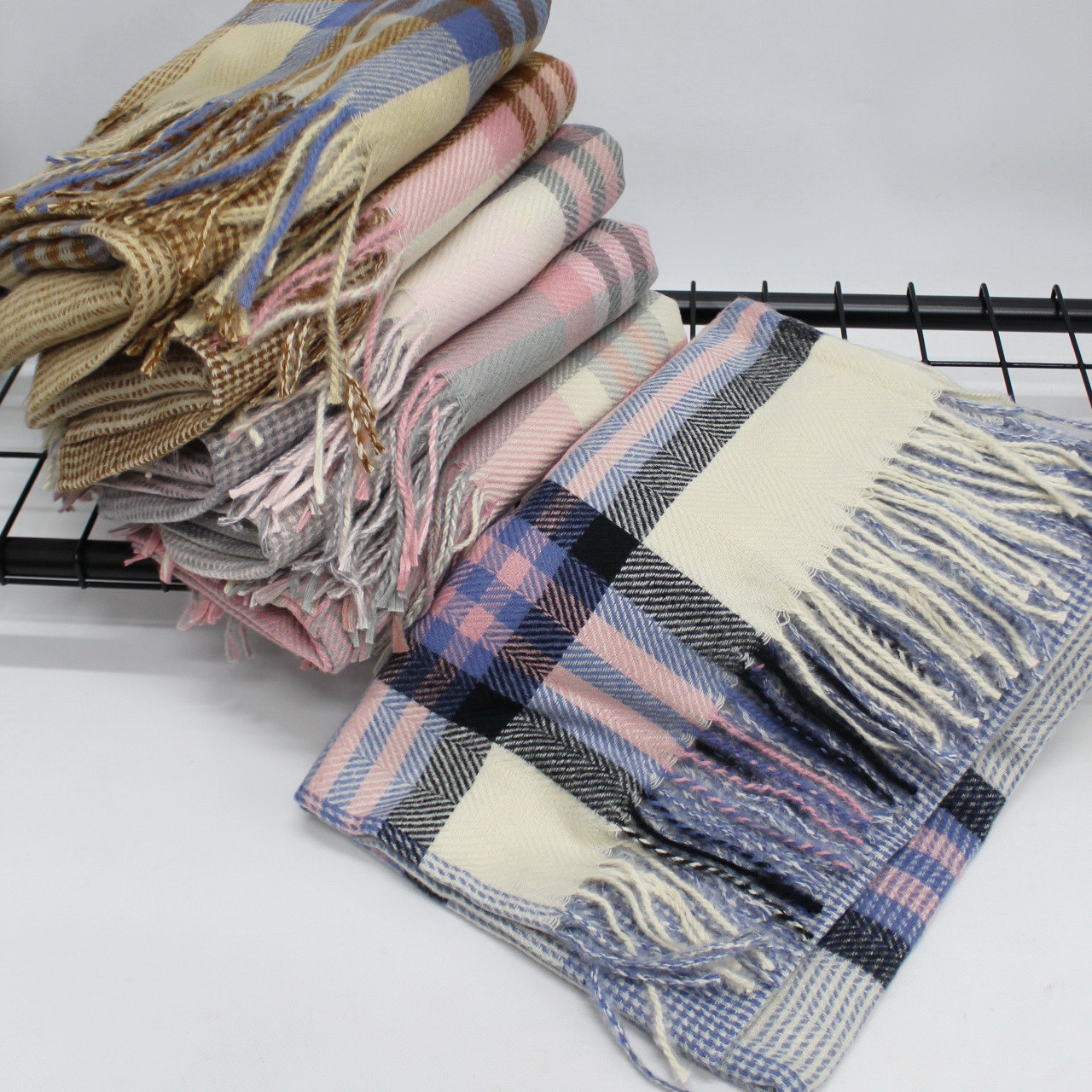 Кашемировый теплый шарф палантин  Cashmere 140005