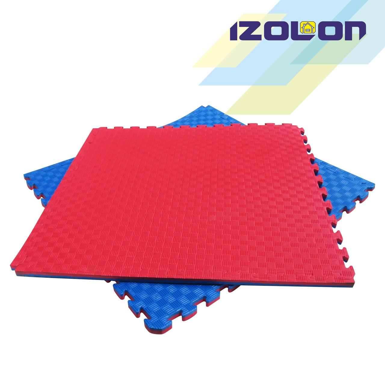 Мат-татами (даянг, ласточкин хвост) IZOLON EVA SPORT 1000х1000х20мм двухслойный