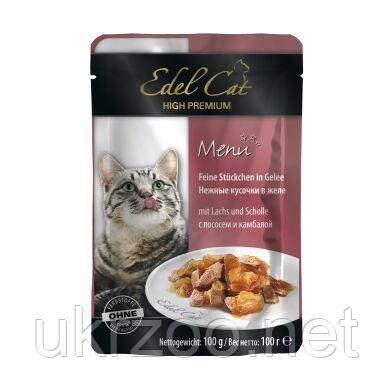 Влажный корм для кошек Edel Cat pouch 100 г (лосось и камбала в желе) 1002028