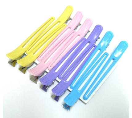 Kosmart_KAM798113910 - Зажим для волос пластик гибкий - Цветок (разноцветный)