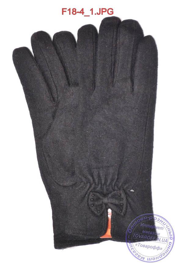 Женские кашемировые перчатки на кролике (мех искусственный) - F18-4, фото 2