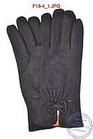 Женские кашемировые перчатки на кролике (мех искусственный) - F18-4