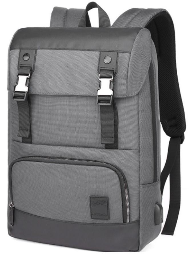 Рюкзак ранець Arctic Hunter B00361 міський для ноутбука USB сірий 30 л
