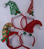 Новогодние обручи - колпак гнома, Санта Клауса. Колпак гномика - обруч на голову