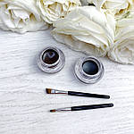 Набор гелевых подводок с кисточками  для глаз и бровей (черная+коричневая), фото 4