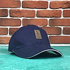 Кепка Бейсболка Чоловіча Жіноча Ediko Темно-Синя c білою смугою на козирку, фото 2