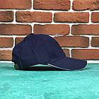 Кепка Бейсболка Чоловіча Жіноча Ediko Темно-Синя c білою смугою на козирку, фото 3