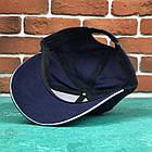 Кепка Бейсболка Чоловіча Жіноча Ediko Темно-Синя c білою смугою на козирку, фото 5