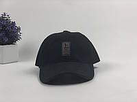 Кепка Бейсболка Мужская Женская Ediko Черная с бордовой полосой на козырьке