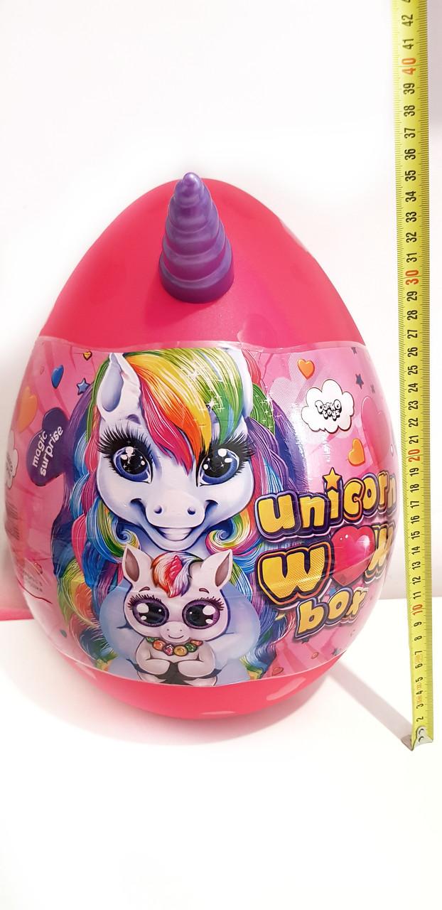 Детский игровой набор для творчества Яйцо Единорога Danko Toys Unicorn WOW Box 35 см 20 сюрпризов