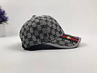 Кепка Бейсболка Мужская Женская Gucci с пчелой Серая, фото 4