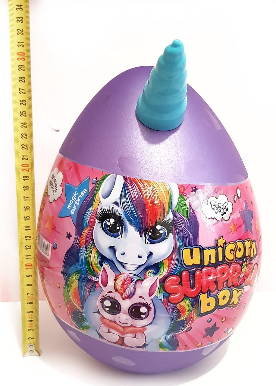 Яйцо Единорога Danko Toys Unicorn Surprise Box 30 см 15 сюрпризов Детский игровой набор для творчества