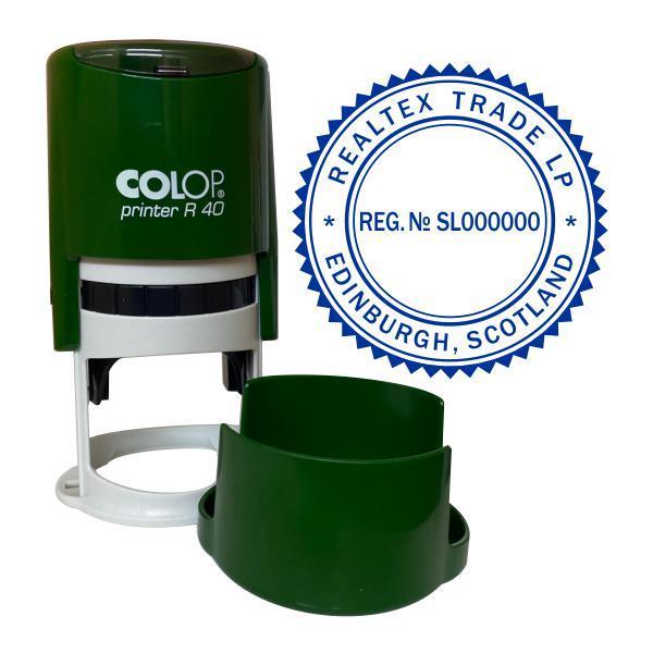 Печать иностранной компании с оснасткой Colop R 40