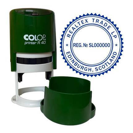 Печать иностранной компании с оснасткой Colop R 40, фото 2