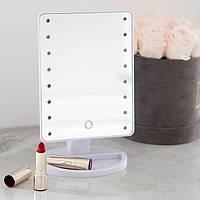 Зеркало с LED подсветкой (черное, белое, розовое)