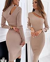 Жіноче силуетне сукня з довгим рукавом.Новинка 2020, фото 1